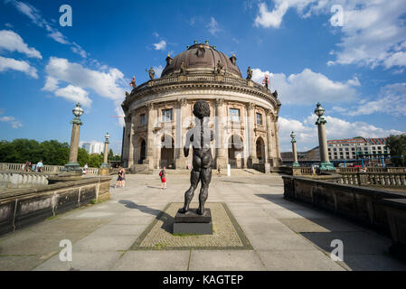 Berlin. Germany. Bode Museum on Museum Island, housing the sculpture collection and Museum of Byzantine Art.  Designed - Stock Photo