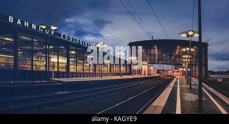 Bahnhof zoologischer Garten, railway station. - Stock Photo