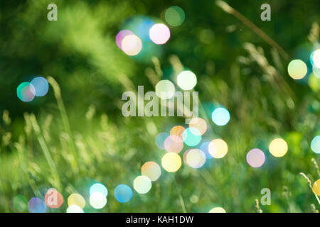 Abstract Defocused bubbles soap Background - Stock Photo