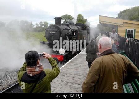 Isle of Wight Steam Railway, UK - Stock Photo