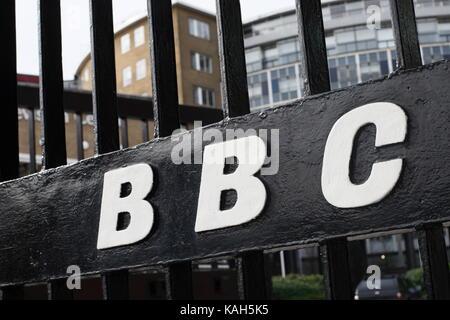 BBC Television Centre. Shepherds Bush, West London. - Stock Photo