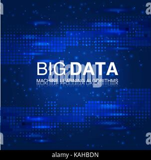 BIG DATA Machine Learning Algorithms. Analysis Science or Technology Background. - Stock Photo