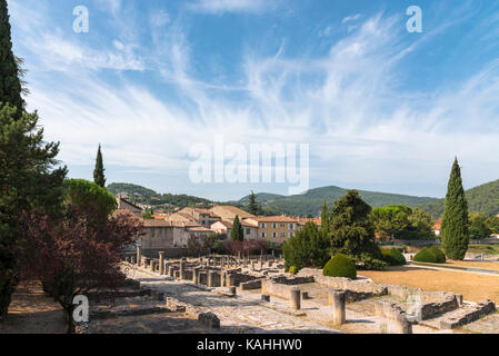 The Roman ruins at Vaison-la-Romaine, Cotes du Rhone, France - Stock Photo