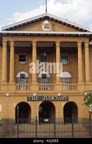 Nairobi, Kenya - July 09, 2017: The Judiciary building supreme court in Nairobi, Kenya - Stock Photo