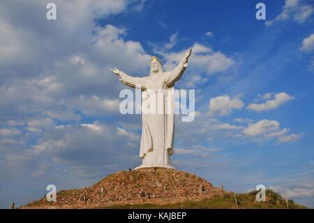 The crowned statue of Christ in Swiebodzin (2010), claimed to be the world's tallest statue of Jesus. Poland, Lubusz - Stock Photo