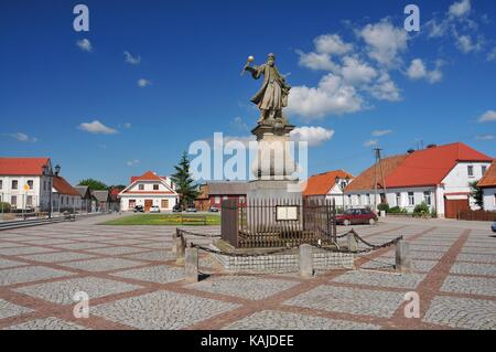 Tykocin - small town in Podlaskie Voivodeship, Poland. Monument of Stefan Czarniecki. - Stock Photo