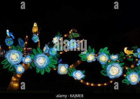 Magical Lantern Festival,Roundhay Park Leeds,West Yorkshire,England,UK. - Stock Photo