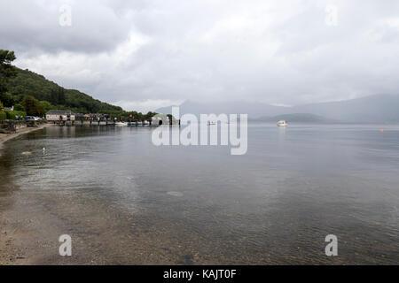 Luss, on the west bank of Loch Lomond., Argyll & Bute, Scotland, UK - Stock Photo