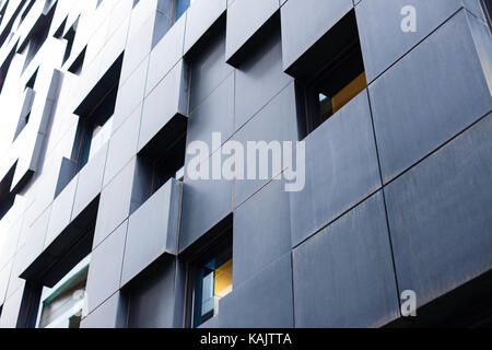 Modern streets of Oslo popular buildings scandinavian architecture - Stock Photo