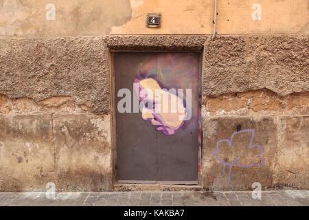 graffiti in a wall in mallorca - Stock Photo