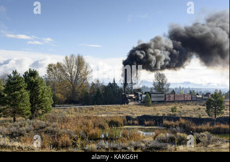EDITORIAL, 18 October 2015, Historic Steam Trains and Heritage Railroad of the Sumpter Valley Railway or Railroad, - Stock Photo