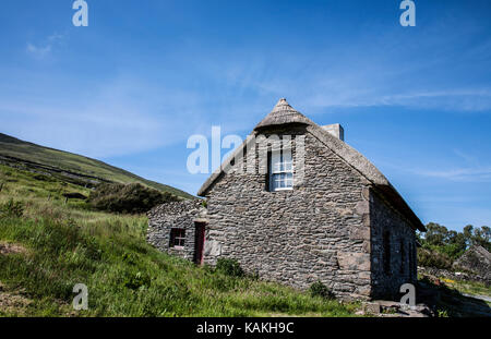Historic site 19th century Famine Cottage Fahan, Dingle Peninsula, Slea Head, Co County Kerry, Ireland landscapes, Irish famine