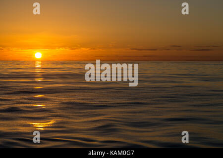 Sunset on the Bay of Biscay - Stock Photo