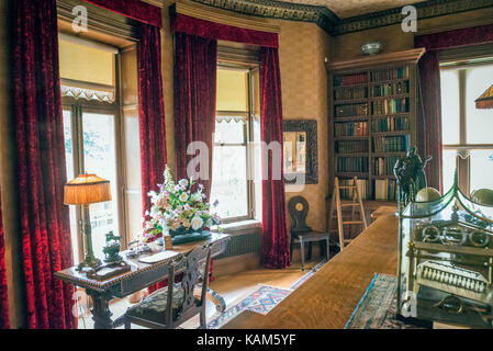 Interior of Quex House at Birchington-on-Sea, Kent, UK - Stock Photo