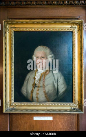 Portrait of John Powell at Quex House, Birchington-on-Sea, Kent, UK - Stock Photo