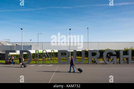 Edinburgh International Airport, Lothian, Scotland, United Kingdom. - Stock Photo