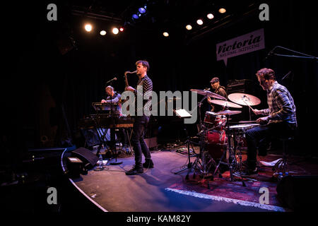 The American jazz group Donny McCaslin Group performs a live concert at Victoria Nasjonal Jazzscene in Oslo. Here - Stock Photo