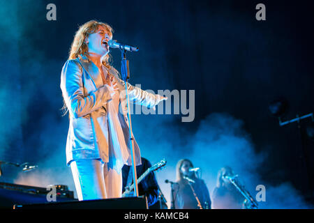 The English indie rock band Florence and the Machine (styled Florence + the Machine) performs a live concert at - Stock Photo