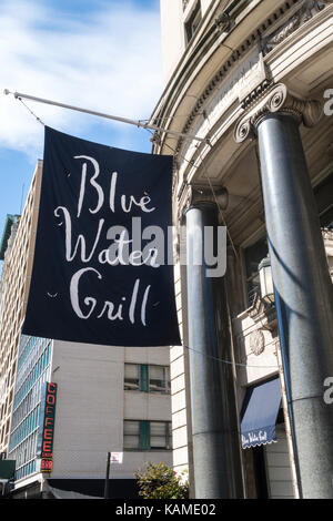 Blue Water Grill at Union Square, NYC, USA - Stock Photo
