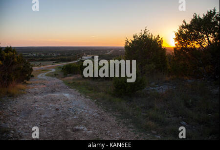 View of a Flat Horizon During Sunset - Stock Photo