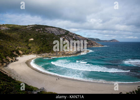 A view of Misery Beach in Torndirrup National Park, Albany - Stock Photo