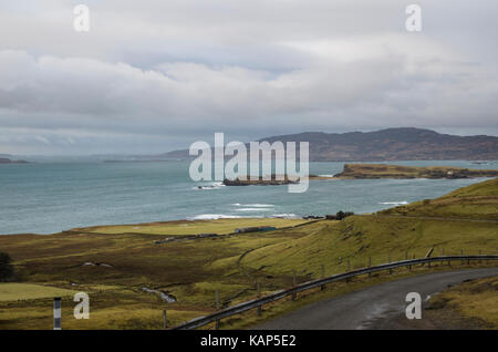 The island of Inch Kenneth in Loch Na Keal, Mull, Scotland, UK - Stock Photo