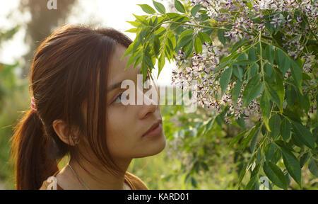 girl in the rural - Stock Photo