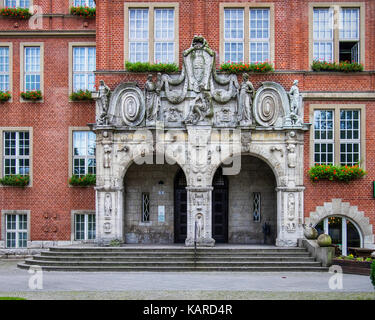 Berlin, Wittenau, Town hall, Reinickendorf Rathaus built in 1911 by architect Friedrich Beyer.Historic old listed - Stock Photo
