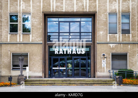 Berlin, Wittenau,New Town hall extension to Reinickendorf Rathaus built 1950 to 1955 by architect Walter Briesenick,Building - Stock Photo