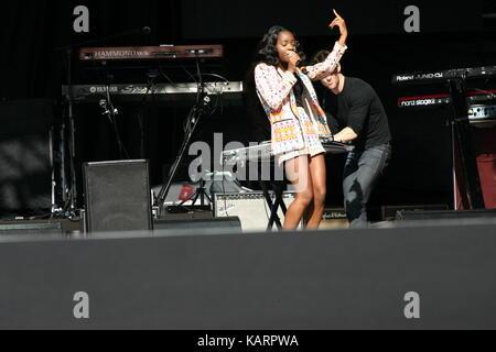 AMS  performing at Eirias Stadium Colwyn bay Wales - Stock Photo