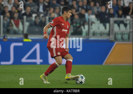 Turin, Italy. 27th Sep, 2017. during the UEFA Champions League football match between Juventus FC and Olympiacos - Stock Photo