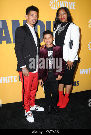 West Hollywood, CA, USA. 27th Sep, 2017. Lonnie Chavis. World premiere of Showtime's ''White Famous'' held at The - Stock Photo