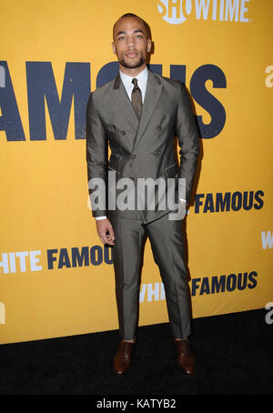 West Hollywood, CA, USA. 27th Sep, 2017. Kendrick Sampson. World premiere of Showtime's ''White Famous'' held at - Stock Photo