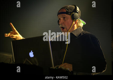 Giorgio Moroder, the legendary Italian music producer, songwriter and DJ, performs a live show at Rockefeller in - Stock Photo