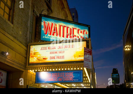Waitress, the Broadway musical at the Brooks Atkinson Theatre in New York City - Stock Photo