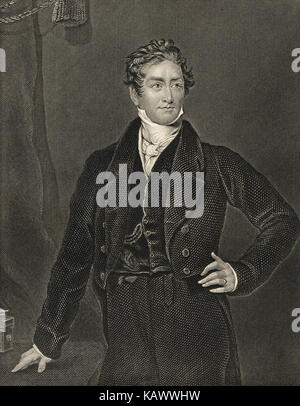 Sir Robert Peel, Served twice as Prime Minister of the United Kingdom (1834–1835 and 1841–1846) - Stock Photo