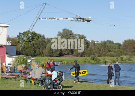 Wakepark, Baltic Sea Spa Damp, Schleswig-Holstein, Germany - Stock Photo