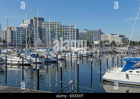 marina, Baltic Sea Spa Damp, Schleswig-Holstein, Germany - Stock Photo