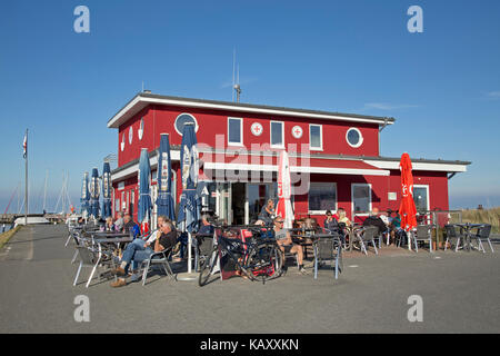 marina bistro, Baltic Sea Spa Damp, Schleswig-Holstein, Germany - Stock Photo