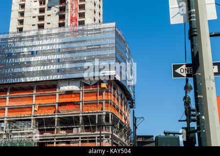 Brookfield's Manhattan West development in New York on Sunday, September 24, 2017. (© Richard B. Levine) - Stock Photo