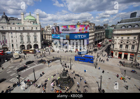 Great Britain, London, Piccadilly Circus, - Stock Photo