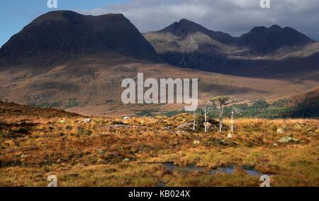 Beinn Alligin (the Jewel of Torridon) - Stock Photo
