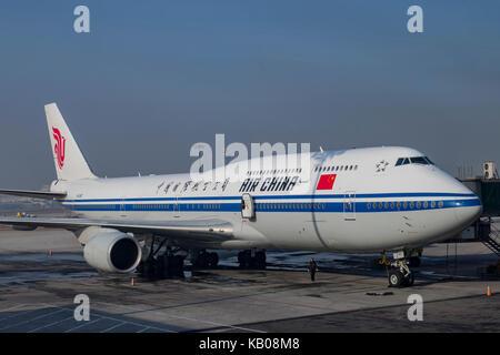 Beijing, JAN 3: Air China of the Beijing International Airport at Beijing, China - Stock Photo