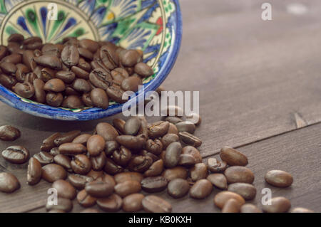 coffee beans in bowl - Stock Photo