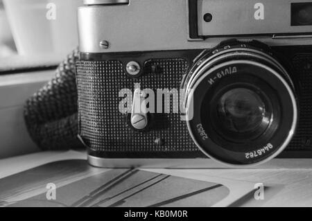 old camera and photo - Stock Photo