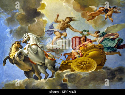 Alexander the Great 336 – 323 BC King of Macedonia Greek Greece Wall and Ceiling Paintings in The Palazzo Pitti - Stock Photo