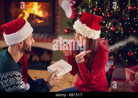 Gift surprise for Christmas - Stock Photo