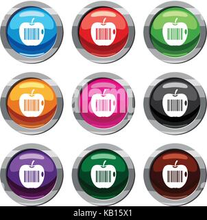 Code to represent product identification set 9 collection - Stock Photo