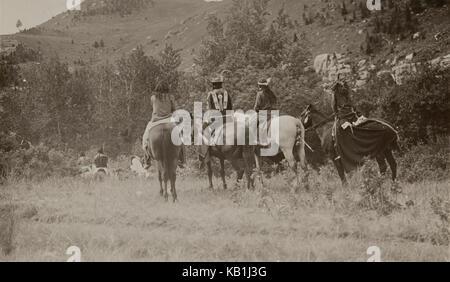 Untitled (Native Americans on horseback) - Stock Photo
