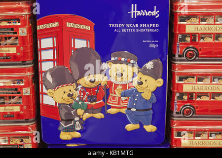 England, London, Knightsbridge, Harrods, memory, biscuit tins, - Stock Photo